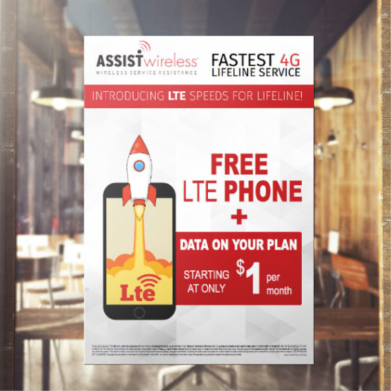 Advertisement Poster ViaOne Services Marketing Outbound Communication ETC Lifeline Wireless